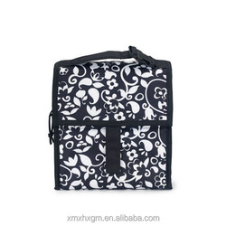 hot sales fabric insulated foldable Freezable cooler Lunch Bag with Zip velcro Closure