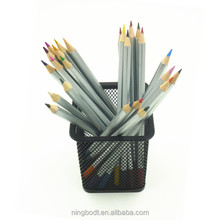 Silver color custom pencils with colorful caps