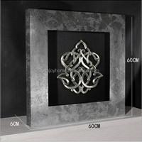 Hot selling 3D shadow box frame art wrought iron wall art