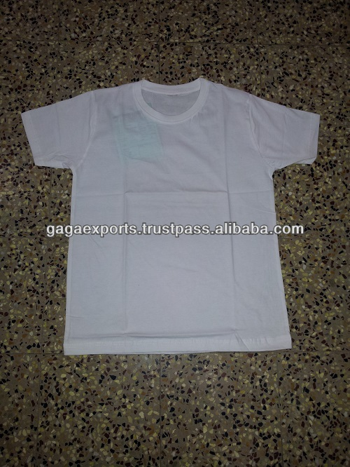 $1.15ใน150แกรมรอบคอสีขาวผู้ชายt- เสื้อยืด
