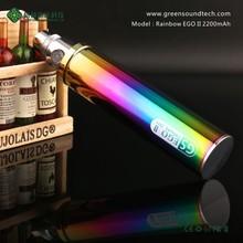 2015 Vaporizer Rainbow Battery Ego Electronic Cigarette Wholesale GS ego II Rainbow 2200mah Free Shipping Free Sample
