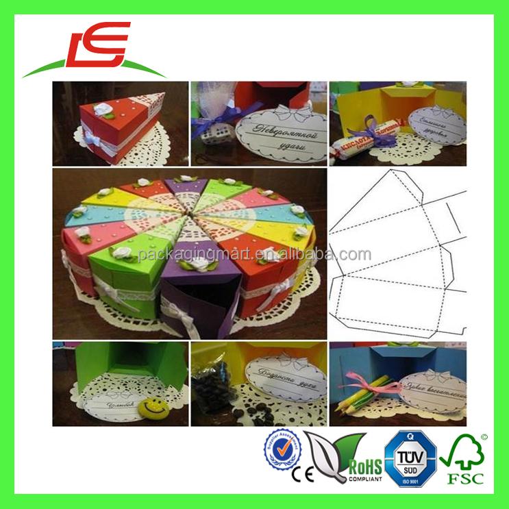 Q1051 Gros Bricolage Couleur G Teau En Forme De Coffrets Cadeaux Personnalis Bo Te De Triangle