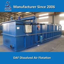 Dissolved air flotation unit with lamella plates for oil and grease removal