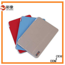 China Alibaba New Luxury Slim Stand Smart Case Real Leather Back Cover For Apple iPad air 2 iPad 6