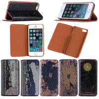 High quality luxury Retro pattern inside tpu case wallet leather cover case for iPhone 5 5S