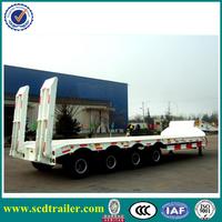 2015 factory price heavy duty TRI-AXLES 60 Ton transporter semi low bed trailer