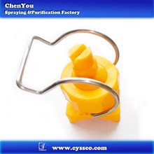 High-temperature Resistance plastic adjustable ball clamp clip-eyelet PP plastic nozzle spray tip