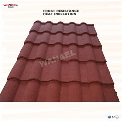 Anti-UV Heat Insulation Milan Stone Chips Coated Metal Roofing