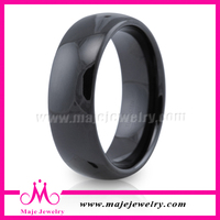 Wholesale price jewelry plating black tungsten men rings free sample