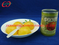 Cheap canned food, canned yellow peach halves in light syrup with private label