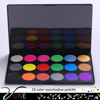 18 city color cosmetic,office cosmetic eyes makeup eyeshadow palette