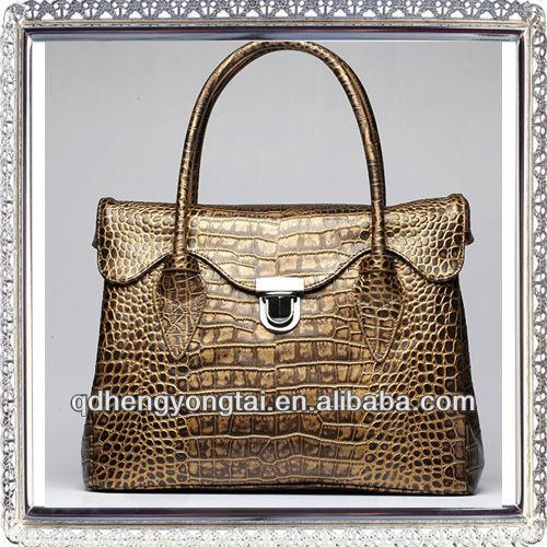 2014 timsah bayan moda hakiki deri çanta taşımak çanta kadın