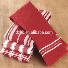 2015 new designs stripe cotton tea/kitchen towel