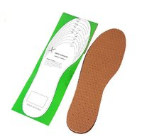 Comfortable shoe design massaging gel natural rubber leather insole five toe leather shoes