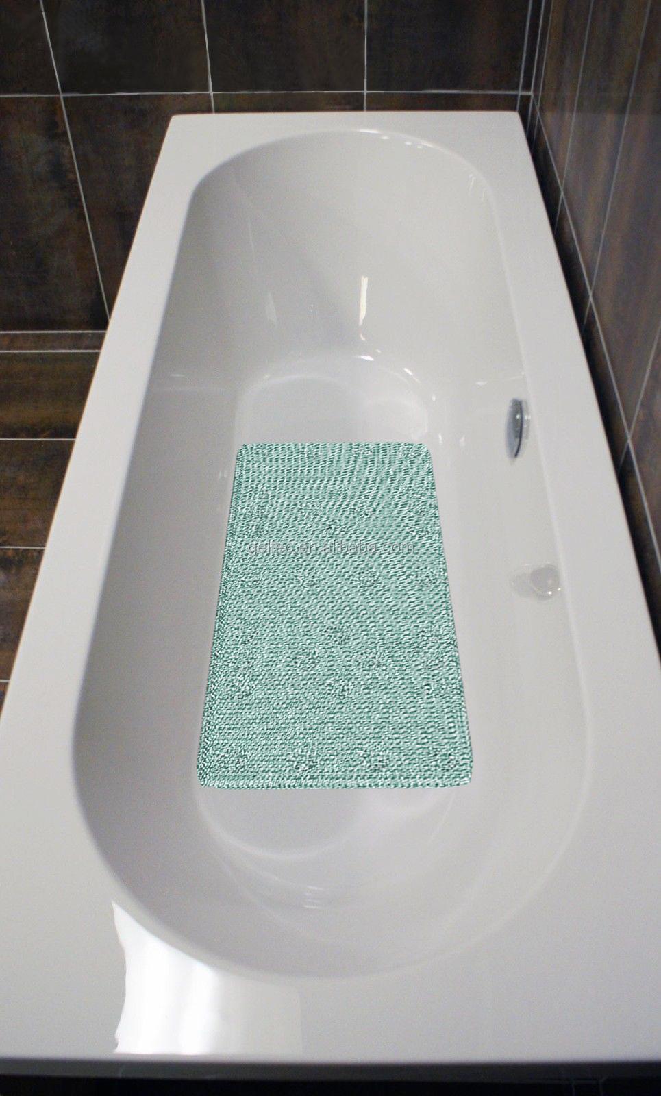 Non Slip Grass Loofah Padded Bath Tub Mat - Buy Non Slip Bath Tub ...