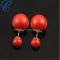 Attractive Red Color Earrings