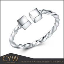 CYW jewelry making supplies wholesale, 925 sterling silver ring, square ring