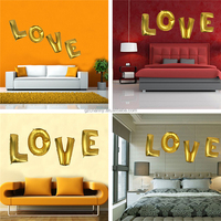 1PC Golden LOVE letters Foil Helium Balloons Wedding Christening Party Decoration