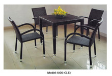 Durable rattan weaving bar set cafe shop leisure bar chair and table