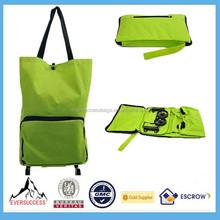 Foldable Shopping Trolley Wholesale Rolling Tote Bag Wheels Women Messenger Bags