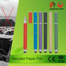 Promotional Eco Recycle Kraft Paper Pen, touch stylus paper pen