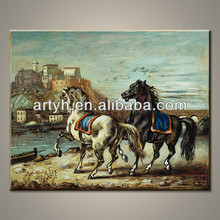 Factory Sale Handmade Wild Horses Oil Painting On Canvas