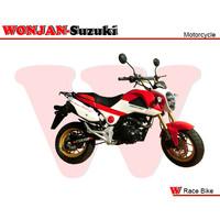 Race Bike (150cc) Wonjan-Suzuki engine, Motorcycle, , Motorbike, Autocycle,Gas or Diesel Motorcycle (WJ150-18 R&W B&W))