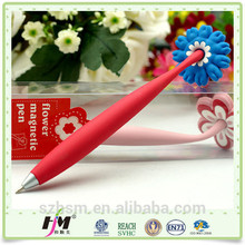New products on china market rubber pack magnet pen for the refrigerator