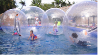 0.8mm PVC/1.0mm TPU inflatable water sports, jumbo walk on water ball
