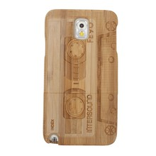 Customized Bamboo Wood Back Protector Hard Case/Cover for samsung galaxy note 3