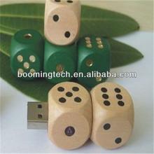 8 gb dice shaped wooden usb flash drive