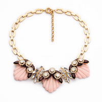China Factory Romantic Jewelry Pink Shell Necklace