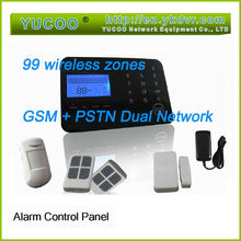 home security Auto gsm mms alarm system with 99 zones