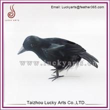 Taizhou Lucky Arts Artificial Birds good quality Feather CRow