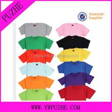 100% cotton o-neck short sleeve customized promotional t shirt,/blank t shirt