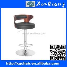 Adjustable swivel PU leather bar stools