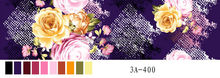 65gsm weight/240cm width disperse printed 100% polyester bedsheet fabric with pink and yellow flower design