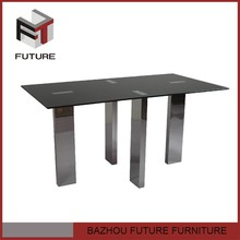 unique furniture 6 seat stainless steel table for restaurant