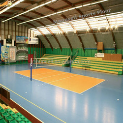 pvc sports floor for indoor Volleyball court in roll