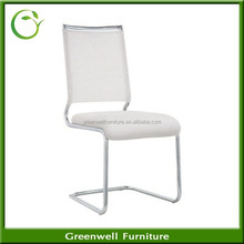 Best Selling branco PU couro Metal Chrome Yellow fezes para cadeira de jantar