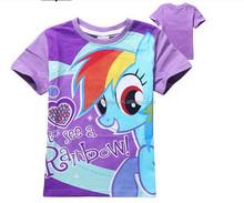 my little pony printed t-shirts wholesale children t-shirts girl fashion t-shirts