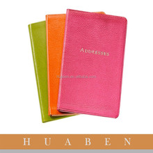 Address Book Type and PVC/PU Cover Material 2015 Notebook