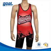 2015 new custom professional vintage wrestling singlets for men
