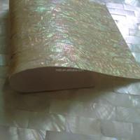 Japanese abalone /paua shell wall paper flexible laminated