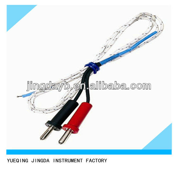 Insulated Probe To Measure Current On Wire : Double banana plugs with k type fiberglass insulation