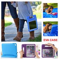 For iPad Air 2 Popular Soft EVA Foam Kids Child Proof Kickstand Case Cover