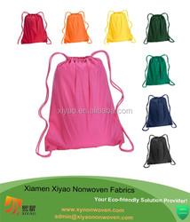 Drawstring Organizer Backpack Golf Shoe Cloth Travel Storage Bag Shoulder PINK