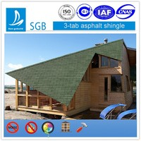 Roof Products in China Market Single Layer 3-Tab Asphalt Shingle