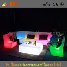 Night club illuminated led sofa, illuminated led sofa, plastic led sofa