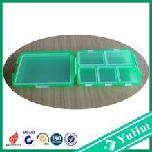 hot sale good PP plastic cute travel pill case with six checks box